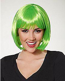 Short Neon Green Wig