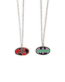 Friendship Joker and Harley Necklace 2 Pack