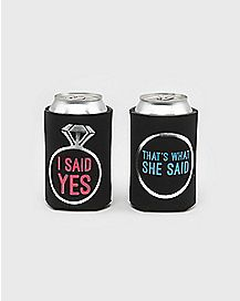 I Said Yes That's What She Said Can Cooler 2 Pack