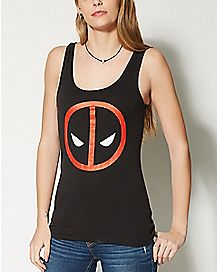 Deadpool Face Tank Top - Marvel Comics
