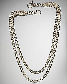 Gold Double Link Wallet Chain