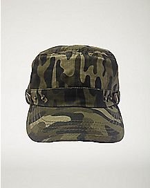 Green Army Camo Hat