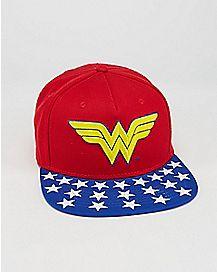 Embroidered Wonder Woman Snapback Hat - DC Comics