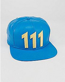 Faux Leather 111 Fallout Snapback Hat