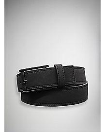 Black Suede Adjustable Belt