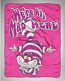 Cheshire Cat Alice in Wonderland Fleece Blanket