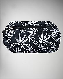 Black and White Pot Leaf Hipsack