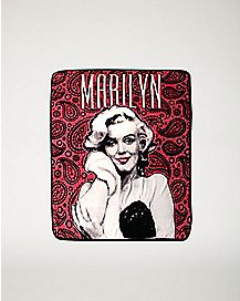 Paisley Marilyn Monroe Fleece Blanket