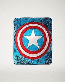Shield Captain America Marvel Fleece Blanket