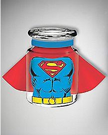 Caped Super Man DC Comics Storage Jar - 6 oz Glass