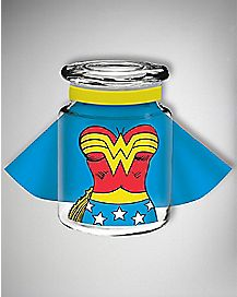 Caped Wonder Woman DC Storage Jar - 6oz Glass