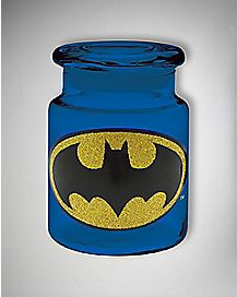 Batman Glitter Storage Jar 6 oz. Glass - DC Comics
