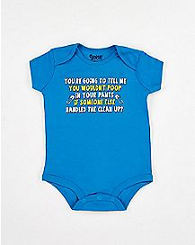 Poop In Pants Baby Bodysuit