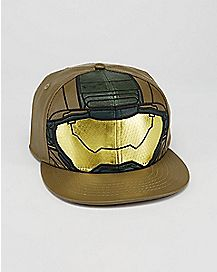 Faux Leather Master Chief Halo Snapback Hat