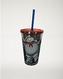 Stay Puft Marshmallow Man Ghostbusters Cup with Straw - 16 oz
