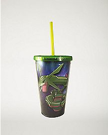 Rayquaza Pokemon Cup With Straw - 16 oz.