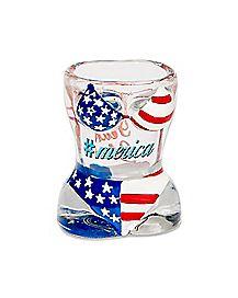 Molded America Bikini Shot Glass - 1.5 oz.