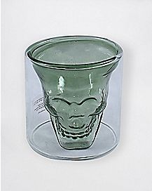 Skull Shot Glass 3 oz Green