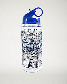Collage Batman DC Comics Water Bottle 20 oz