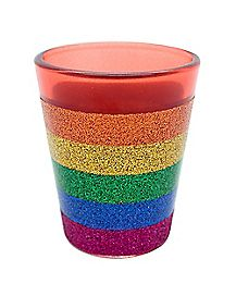 Glitter Rainbow Shot Glass - 1.5 oz.