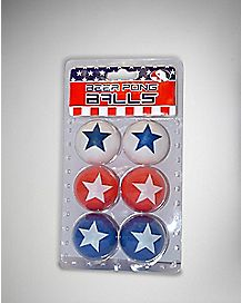 USA Beer Pong Ball 6 Pack