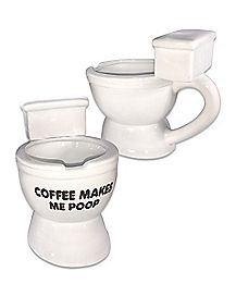 Coffee Makes Me Poop Toilet Mug - 10 oz.