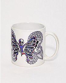 Skeleton Butterfly Coffee Mug - 20 oz.