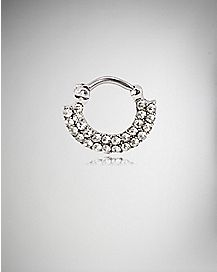 Gem Septum Ring Clicker - 16 Gauge