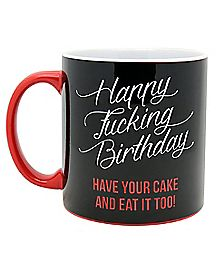 Birthday Have Your Cake & Eat It Too Recipie Mug 22 oz
