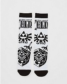 Icon Legend Of Zelda Crew Socks