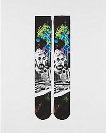 Sublimated Smoking Einstein Knee High Socks