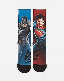 Sublimated Batman V Superman DC Crew Socks