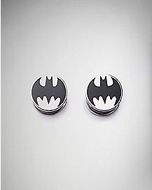 Black Batman Logo Plugs
