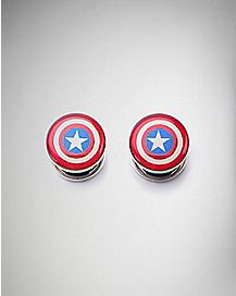 Captain America Shield Logo Plugs
