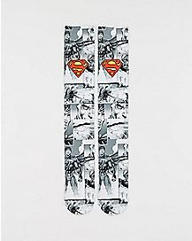Sublimated Logo Superman DC Comics Crew Socks