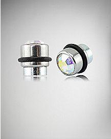 Stone Magnetic Stud Earrings
