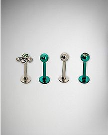 Green Labret 4 Pack - 16 Gauge