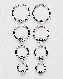 16 Gauge Captive Rings 8 Pack