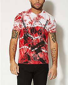 Deadpool Red Tie Dye T Shirt - Marvel Comics