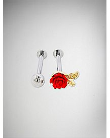 14 Gauge Rose Cartilage 2 Pack
