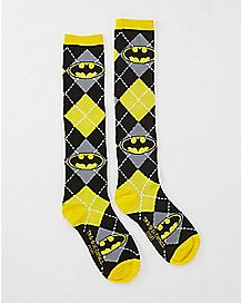 Knee High Argyle Batman DC Comics Socks