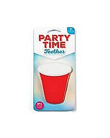 Red Cup Baby Teether