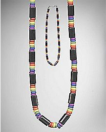 Rainbow Hematite Bead Necklace