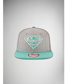 New Era Heather Grey Superman Snapback Hat