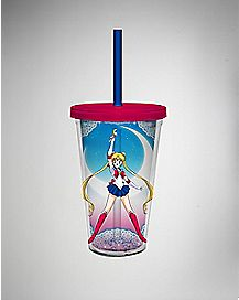 Sailor Moon Cup with Straw - 16 oz