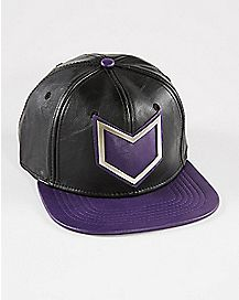 Faux Leather Hawkeye Snapback Hat
