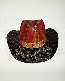 Flag And Star Cowboy Hat