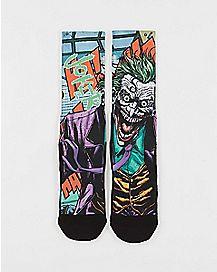 Forever Evil Joker Crew Socks - DC Comics