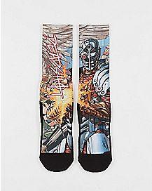 DC Comics Forever Evil Deadshot Crew Socks