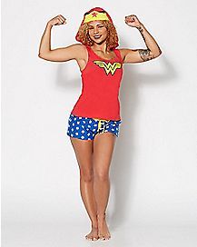 Hooded Wonder Woman Pajama Set